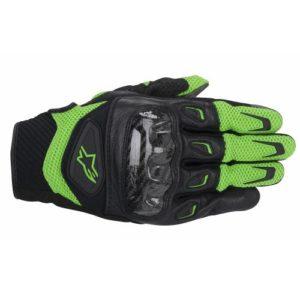 Alpinestars-SMX-2-Air-Carbon-Negro-Verde-Textil-Piel