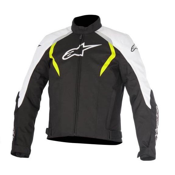 Chamarra-Para-Moto-Alpinestars-ALUX-Impermeable-Negro-Amarillo