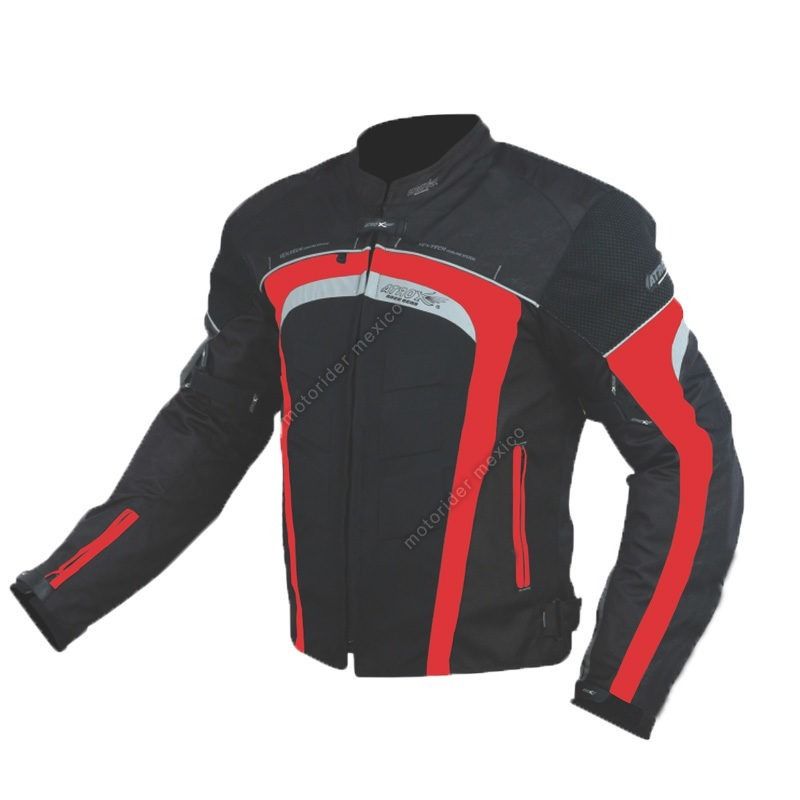 5fb24de36c Chamarra Para Moto Atrox Negro-Rojo - Tienda Moto Rider México