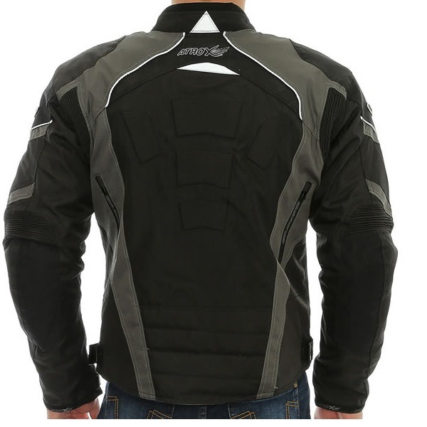 07e1da4165 Chamarra Para Moto Atrox Negro-Gris NF-7123 - Tienda Moto Rider México