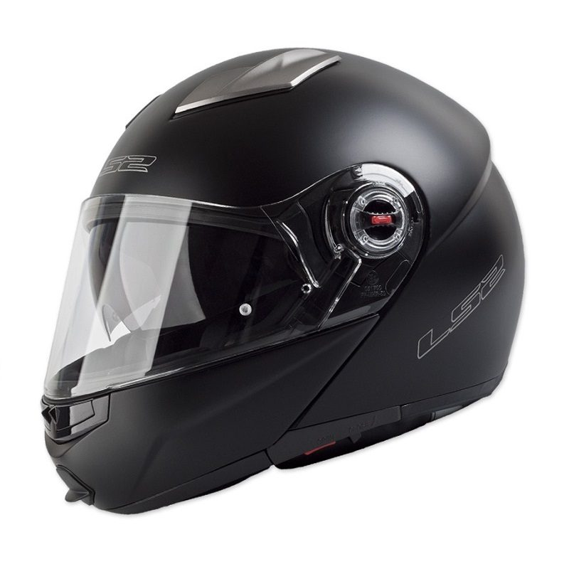 Casco-Para-Moto-Abatible-LS2-Easy-Negro-Mate