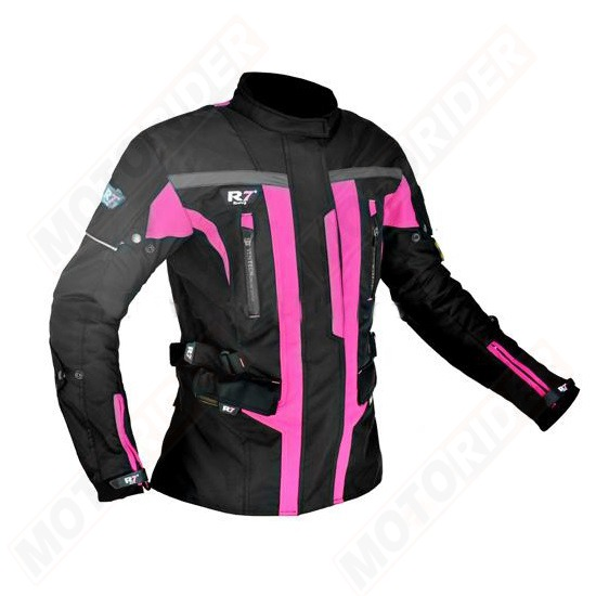 CHAMARRA DEPORTIVA R7 RACING ROSA R7-246 TEXTIL PDAMA