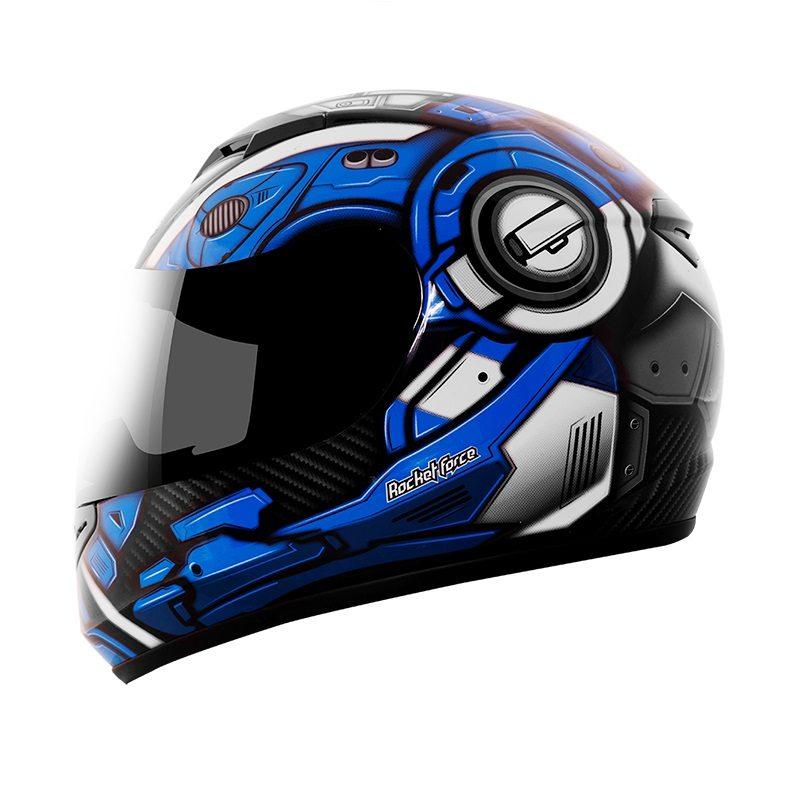213fa27b6d626 Casco Integral Rocket Force TITAN Azul S-06 - Tienda Moto Rider México
