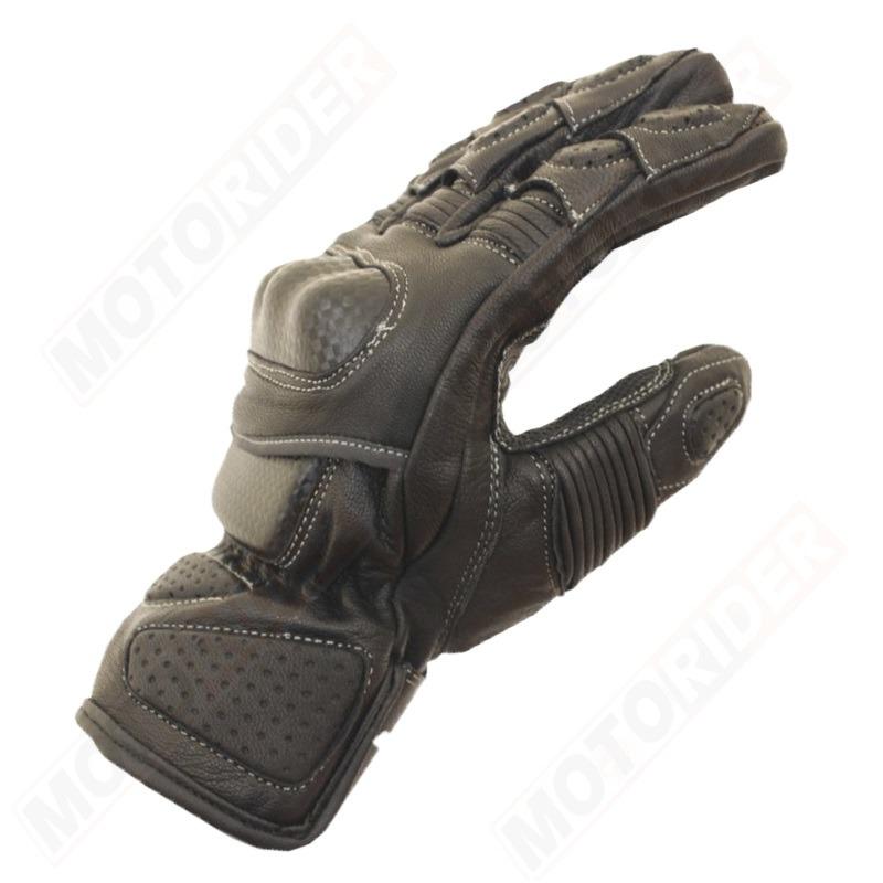 Guantes para moto de piel negros r ride tienda moto for Guantes de piel madrid