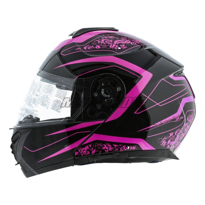 Casco-Abatible-Certificado-Mujer-Rosa-Negro-Fashion (1)