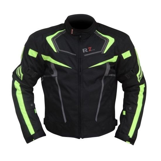 Chamarra Para Moto R7-0906 Negra-Verde
