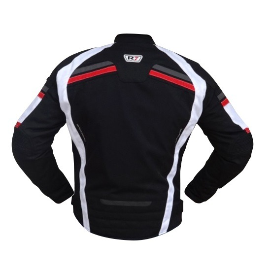 Chamarra Para Moto R7-0915 Negra-Blanco-Rojo-2