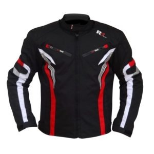 Chamarra Para Moto R7-0915 Negra-Blanco-Rojo