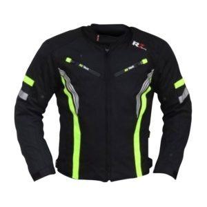 Chamarra Para Moto R7-0915 Negra-Blanco-Verde