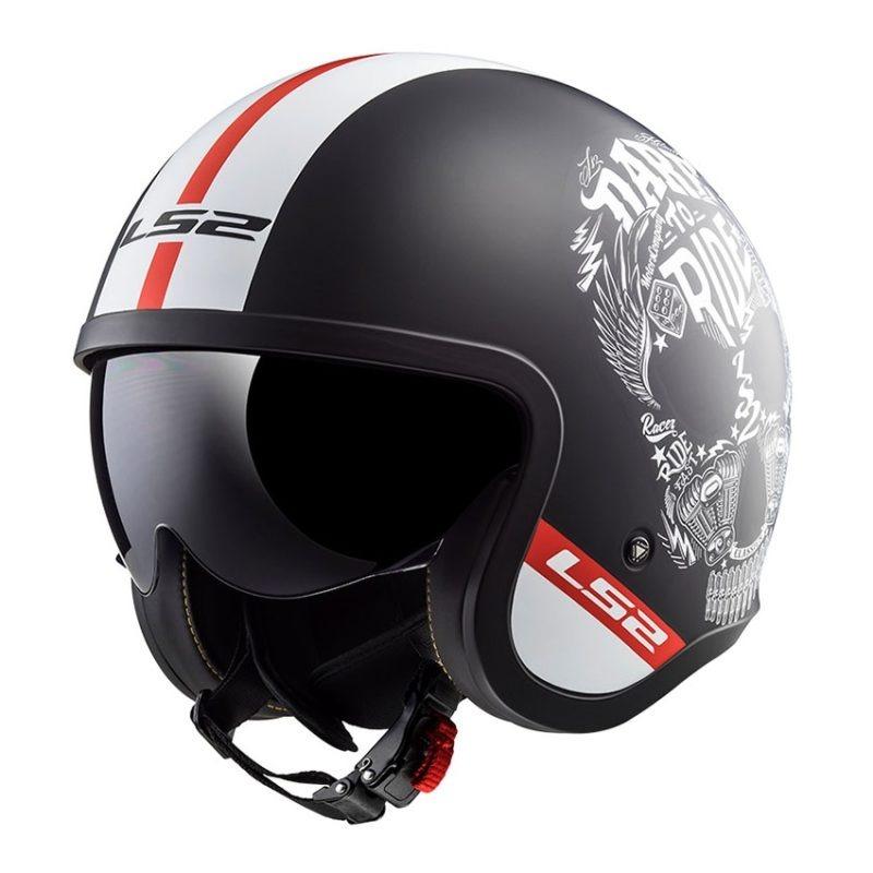casco-moto-jet-ls2-of599-spitfire-inky-nero-mate