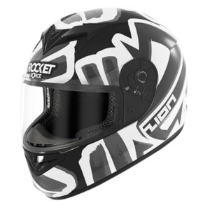 Casco Integral Rocket Force Zion S-06 Negro-Blanco-2