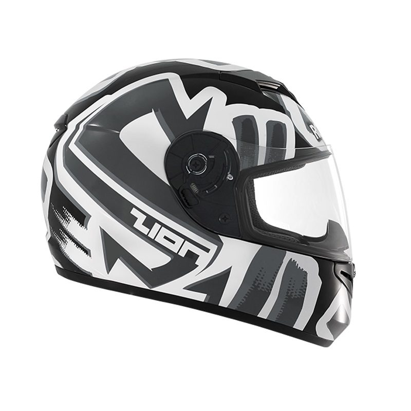 Casco Integral Rocket Force Zion S-06 Negro-Blanco