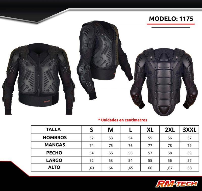 Esqueleto Protector Para Motociclista RM Tech