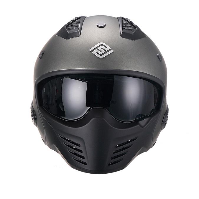 Casco Para Moto Hibrido 726X Gris Titanium-2
