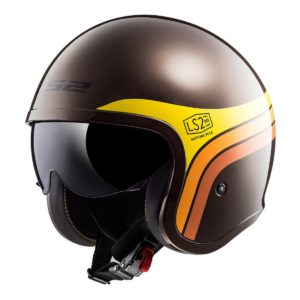 Casco Abierto LS2 Spitfire Cafe-Nja-Amarillo SUNRISE OF599 (1)