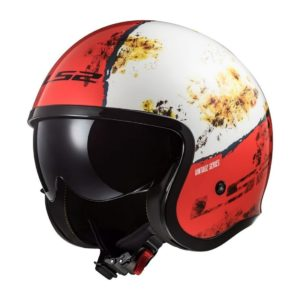 Casco Abierto LS2 Spitfire Rojo-Blanco RUST OF599 (1)