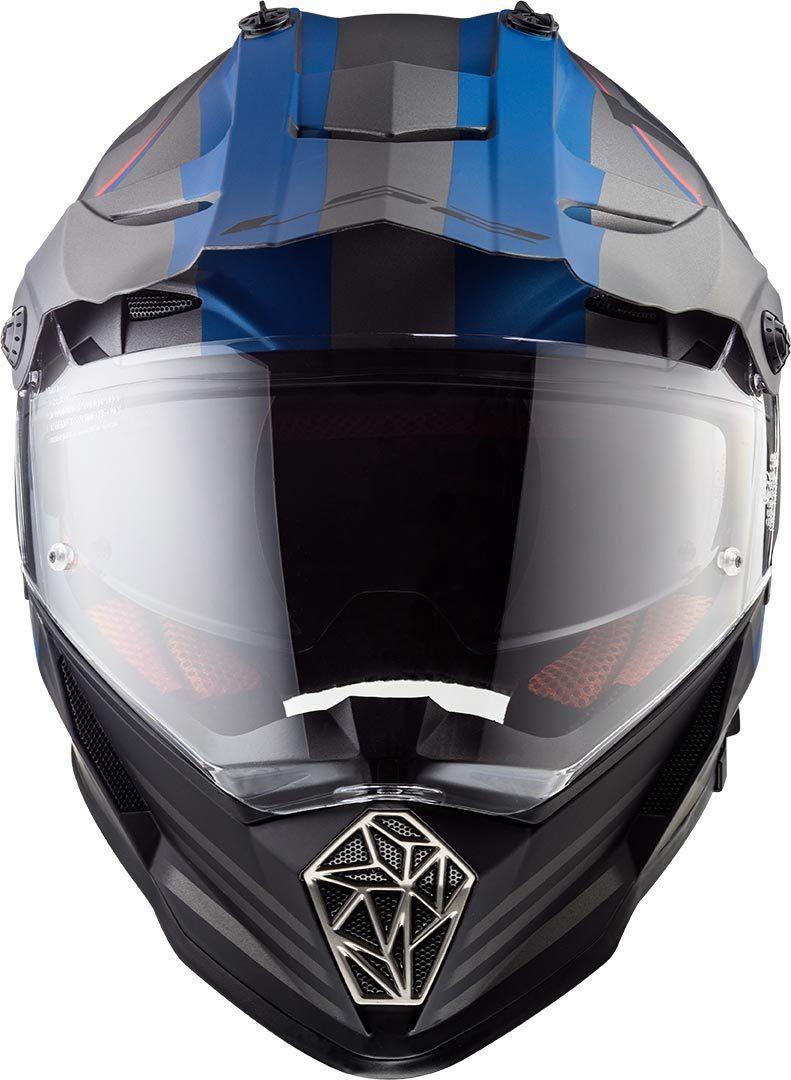 Casco Doble Proposito LS2 Cross City PIONEER QUARTERBACK Gris-Azul MX436 (6)