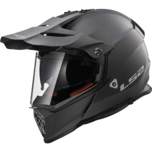 Casco Doble Proposito LS2 Cross City PIONEER Titanium-Mate MX436 (1)
