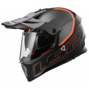 Casco Doble Proposito LS2 Cross City PIONEER Trigger Negro-Mat Titanium MX436 (2)