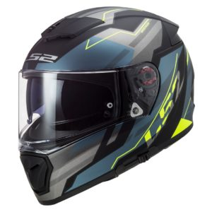 Casco Integral LS2 BREAKER Beta Cobalto Mate-Amarillo FF390 (1)