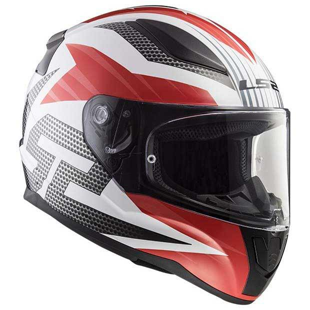 Casco Integral LS2 RAPID GRID Blanco-Rojo FF353 (8)