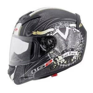 Casco Integral LS2 ROOKIE ENGINE HEART Negro Mate FF352 (1)