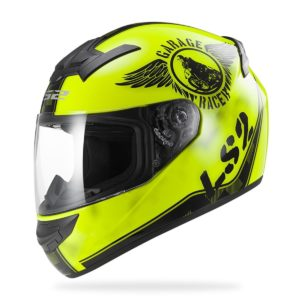 Casco Integral LS2 ROOKIE FAN Negro Amarillo FF352