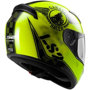 Casco Integral LS2 ROOKIE FAN Negro Amarillo FF352 (2)