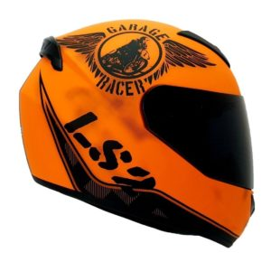 Casco Integral LS2 ROOKIE FAN Negro Naranja Mate FF352 (1)