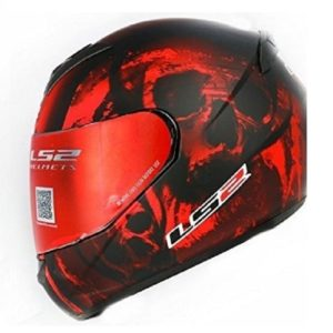 Casco Integral LS2 ROOKIE SKULL Rojo Mate FF352 (1)