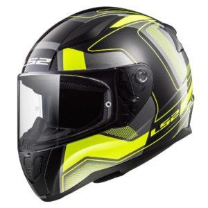 Casco Integral Moto LS2 RAPID CARRERA Negro-Amarillo FF353 (1)