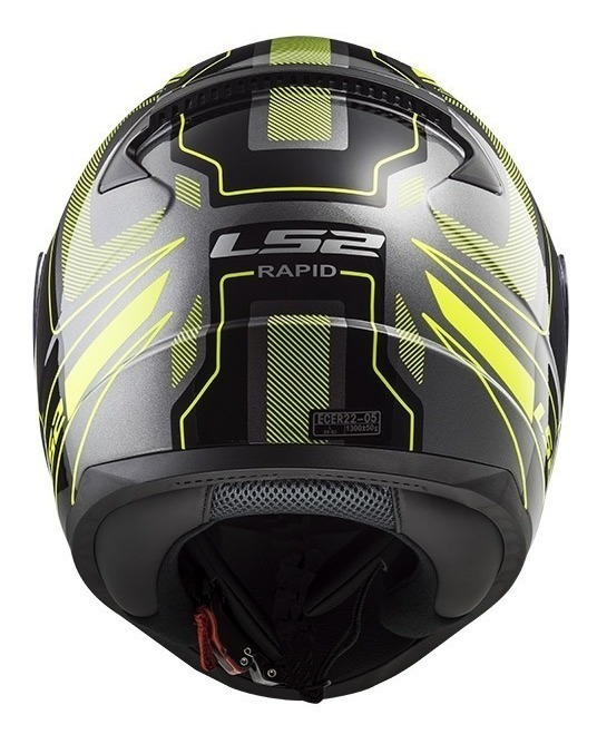 Casco Integral Moto LS2 RAPID CARRERA Negro-Amarillo FF353 (5)