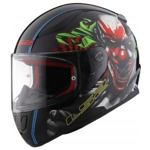 Casco Integral Moto LS2 RAPID CLOWN Negro-Vde-Bco FF353 (1)