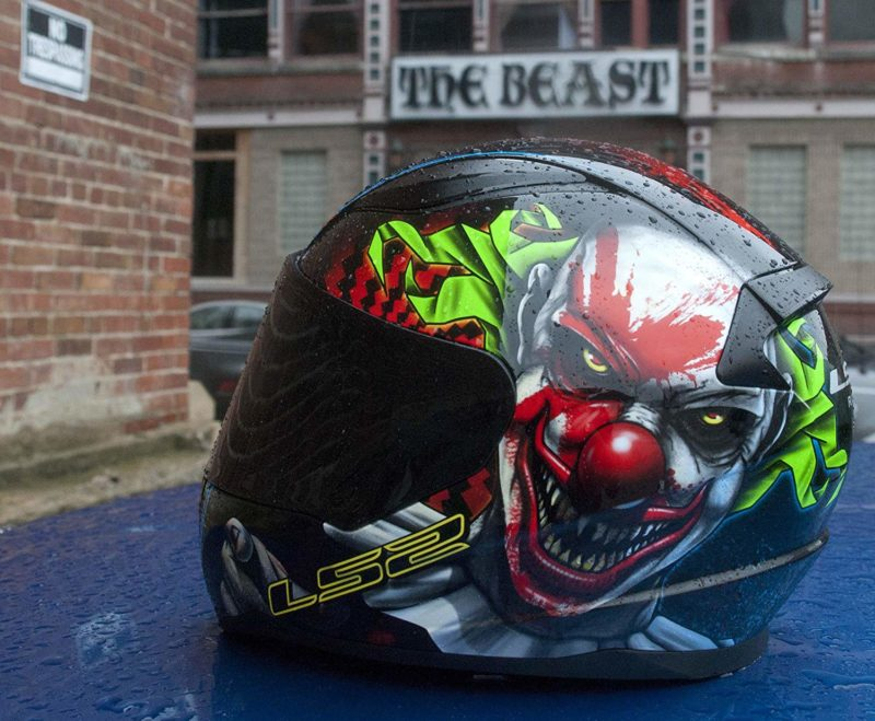 Casco Integral Moto LS2 RAPID CLOWN Negro-Vde-Bco FF353 (3)