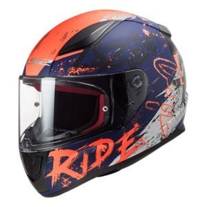 Casco Integral Moto LS2 RAPID NAUGHTY AZL Mate-Naranja FF353 (1)