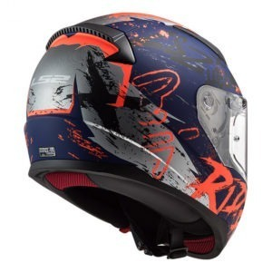 Casco Integral Moto LS2 RAPID NAUGHTY AZL Mate-Naranja FF353 (2)