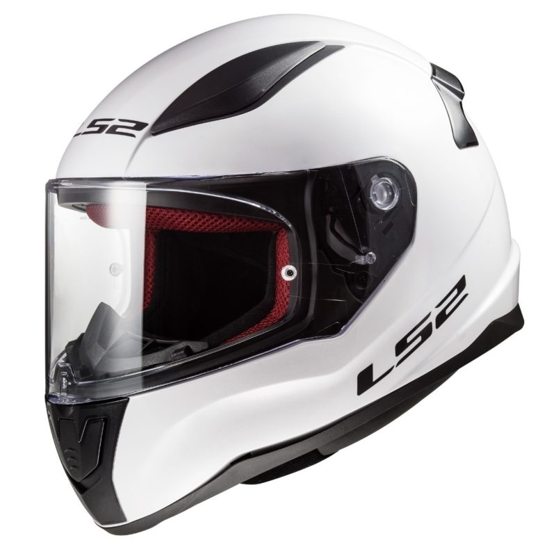 Casco Integral Moto LS2 RAPID Solid Blanco FF353 (1)
