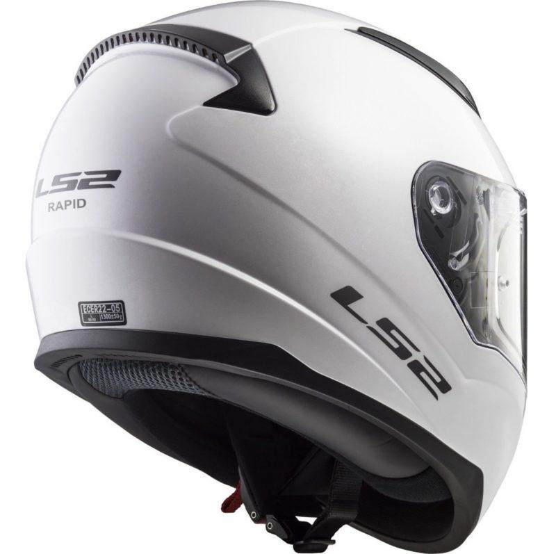 Casco Integral Moto LS2 RAPID Solid Blanco FF353 (8)