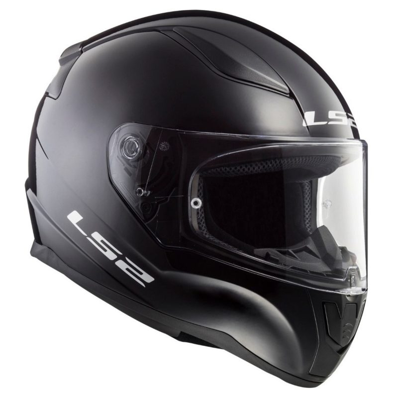 Casco Integral Moto LS2 RAPID Solid Negro FF353 (1)