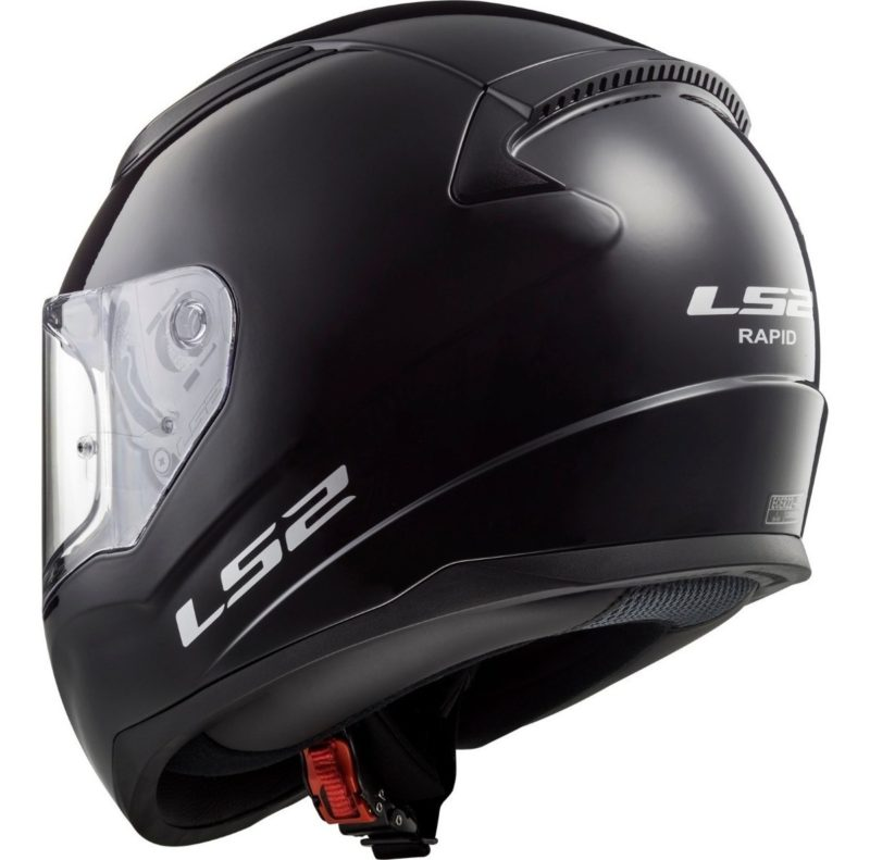 Casco Integral Moto LS2 RAPID Solid Negro FF353 (4)