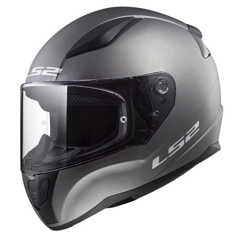 Casco Integral Moto LS2 RAPID Solid Titanium Mate FF353 (1)