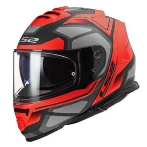 Casco Para Moto Integral LS2 STORM FASTER Rojo Mate-Titanium FF800 (1)