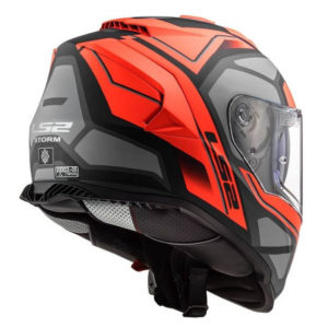 Casco Para Moto Integral LS2 STORM FASTER Rojo Mate-Titanium FF800 (2)