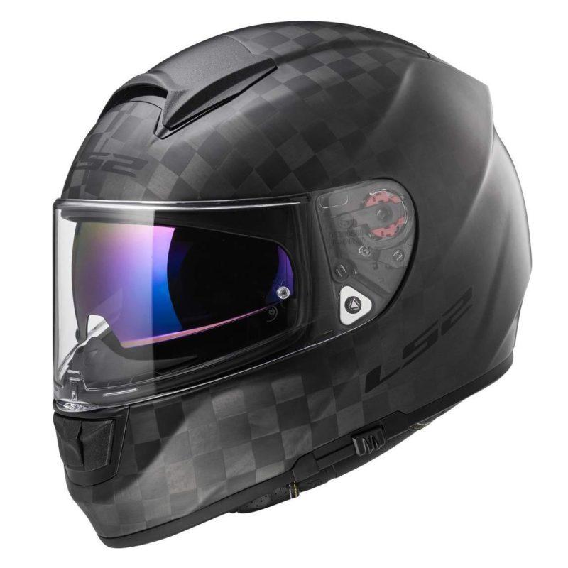 Casco integral LS2 Helmets FF397 VECTOR C EVO SOLID Matt Carbon (1)