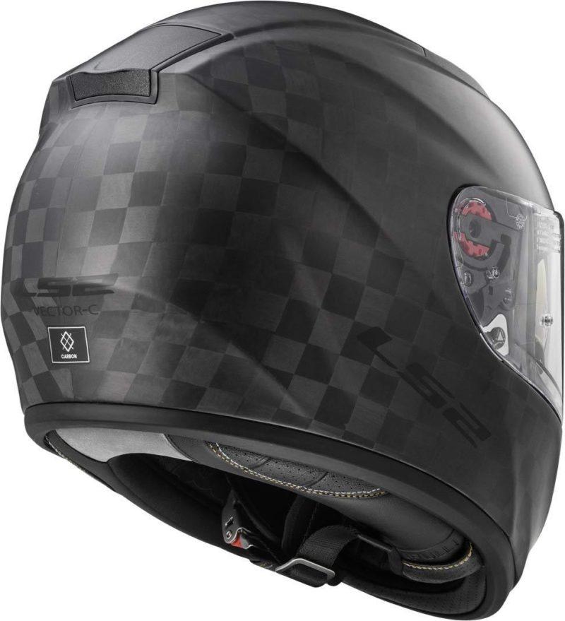 Casco integral LS2 Helmets FF397 VECTOR C EVO SOLID Matt Carbon (7)