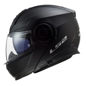 Casco para Moto Abatible LS2 SCOPE Solid Negro Mate FF902 (1)