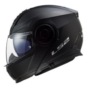 Casco para Moto Abatible LS2 SCOPE Solid Negro Mate FF902 (1)