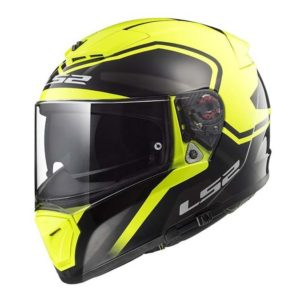 Casco para Moto Integral LS2 BREAKER BOLD Amarillo Fluo-Mate FF390 (1)