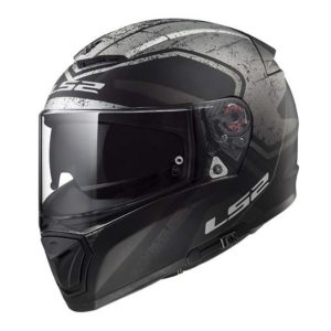 Casco para Moto Integral LS2 BREAKER BOLD Negro Mate Titanium FF390 (1)