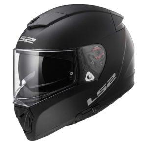 Casco para Moto Integral LS2 BREAKER Solid Negro Mate FF390 (1)